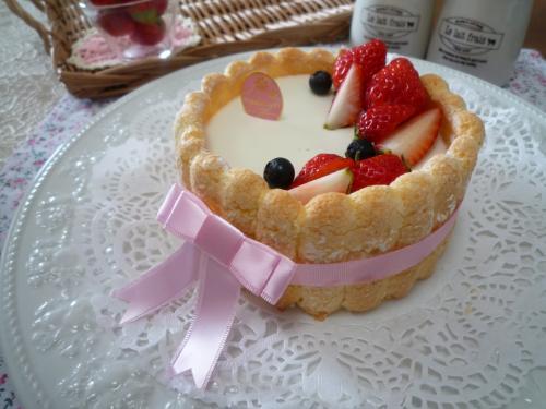 ヨーグルトケーキ横