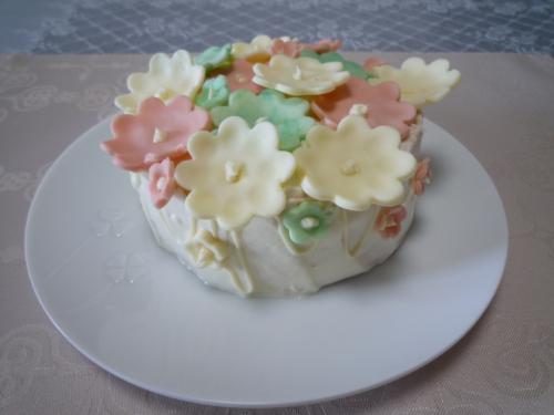 お花畑ケーキ1