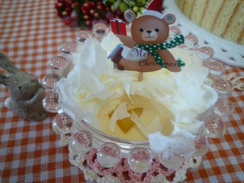 クリスマスケーキ試作f