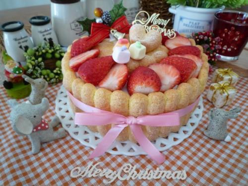 イチゴのクリスマスケーキ5