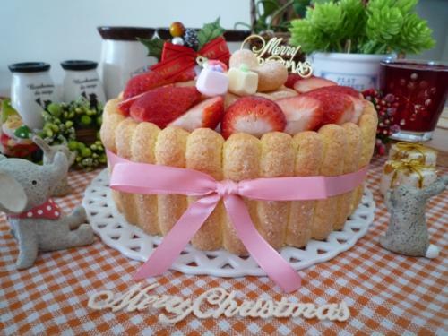イチゴのクリスマスケーキ4