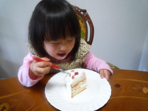 ケーキ作り1