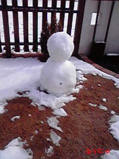 雪だるまアップ