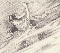 和田呂宋兵衛の攻撃に苦しめられる咲耶子(初出誌『少年倶楽部』連載版)