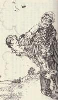 『豹(ジャガー)』の追手に見つかり、捕まってしまった錦華(『少年倶楽部』連載版)
