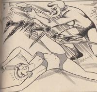 美人女子レスラーが股裂き技で悶絶する姿に、男性観客は大喜び