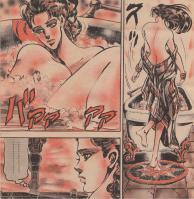 グラマラスなボディのリサリサが入浴する場面を描いた貴重な場面