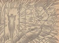 流璃子を狙う敵は、不意をついてガラスのシャワーで先制攻撃を仕掛けました