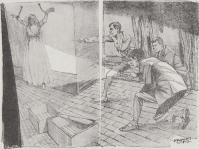 サルグツワを噛まされ、石壁へ磔にされた令嬢(「暗黒星」より)