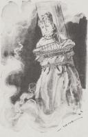 少女に変装した小林少年は柱に縛りつけられ、火責めにされる(「大暗室」より)