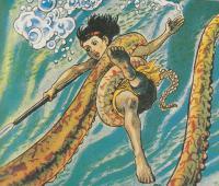 大蛸と戦うサブー