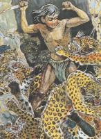 豹の群れに襲われる真吾