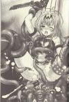 ブースト状態のアリスを辱めるイルキヌフの触手