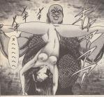 大王の刺客に襲われ、体を裂かれそうになる