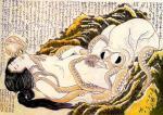 葛飾北斎・画「蛸と海女」