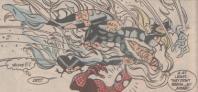満身創痍のブラックキャットを見て驚くスパイダーマン