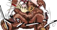 クマのマッスルバスター