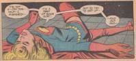 クリプナイトの影響で力を失い、気絶したスーパーガール