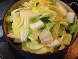 蒸し煮でとろっとろマーボー白菜1