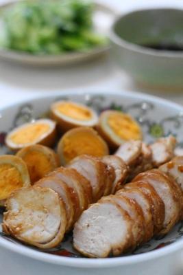 フライパンで作る焼酎鶏チャーシュー1