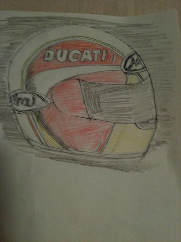 ヘルメット構想 002DUCATI