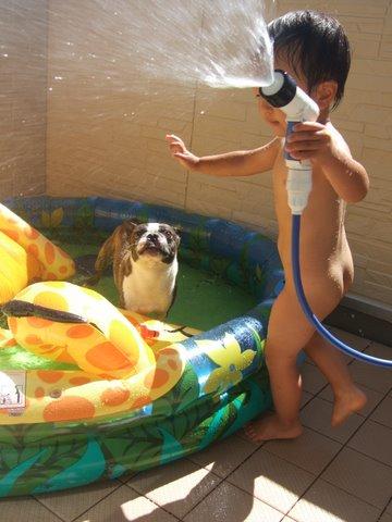 プール遊び 026