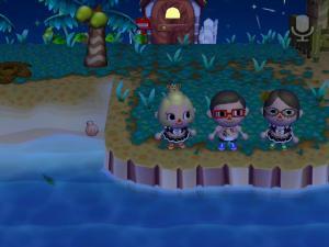 夜の海岸で・・・