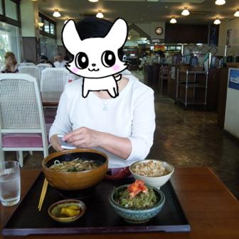 アンパル食堂:そばセット(小)