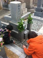 正月二日目墓参り