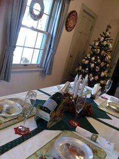 山手234館クリスマスのテーブル
