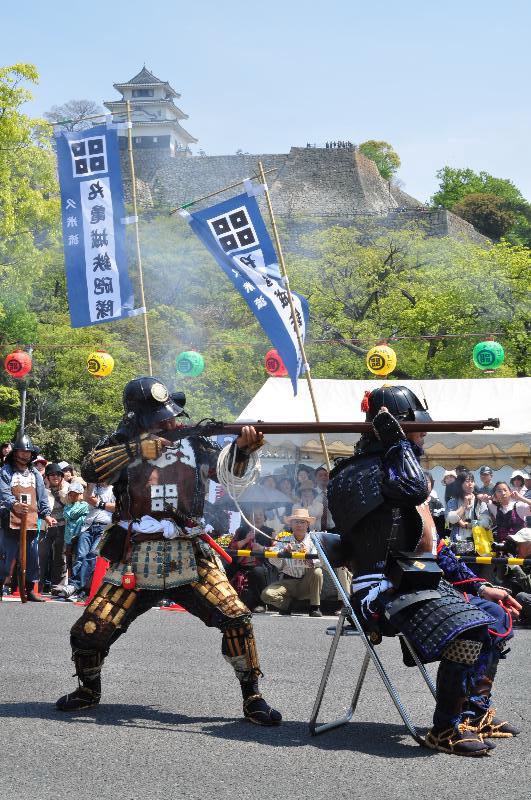 丸亀お城祭り 鉄砲隊 公開演武