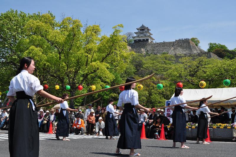 丸亀お城祭り 薙刀術