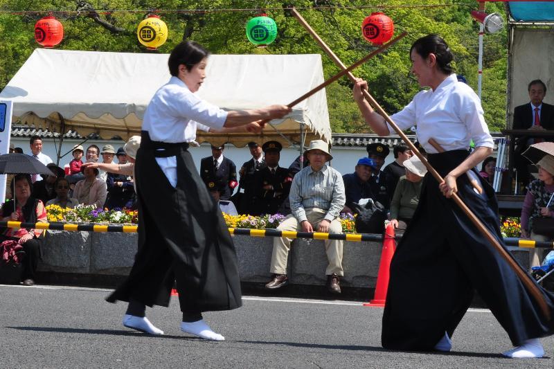 丸亀お城祭り 薙刀術演武