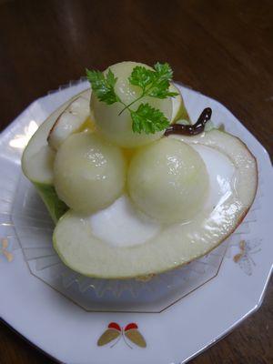 りんごのヨーグルトムース①