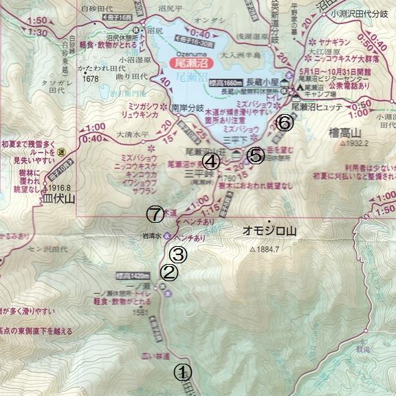 尾瀬花のマップ1