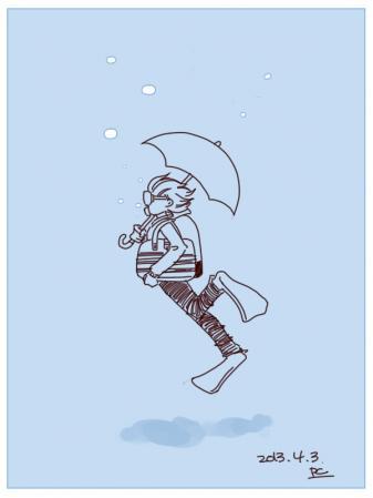 雨風が強い日
