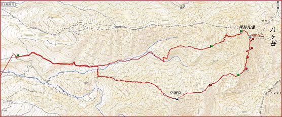 2014921阿弥陀岳南稜 ブログ2