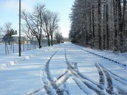 道路も真っ白