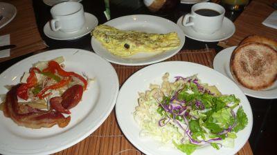 パームカフェの朝食
