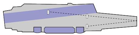 中国空母飛行甲板レイアウト
