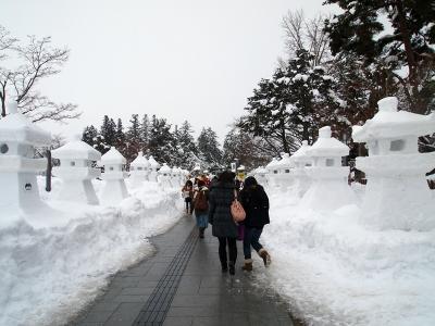 雪灯篭祭り