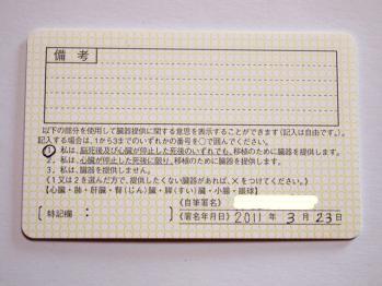 免許証の裏