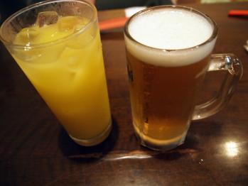 シークワーサー & オリオンビール