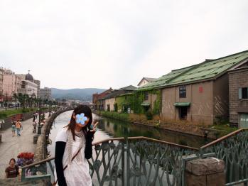 小樽運河で記念撮影☆