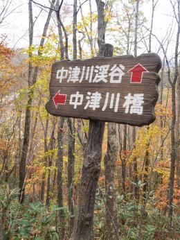 中津川橋の方へ