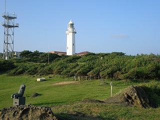 散歩コースからの野島崎灯台