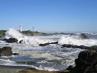 荒波の野島崎