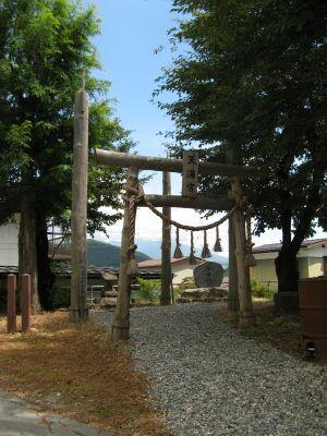 天満宮の御柱