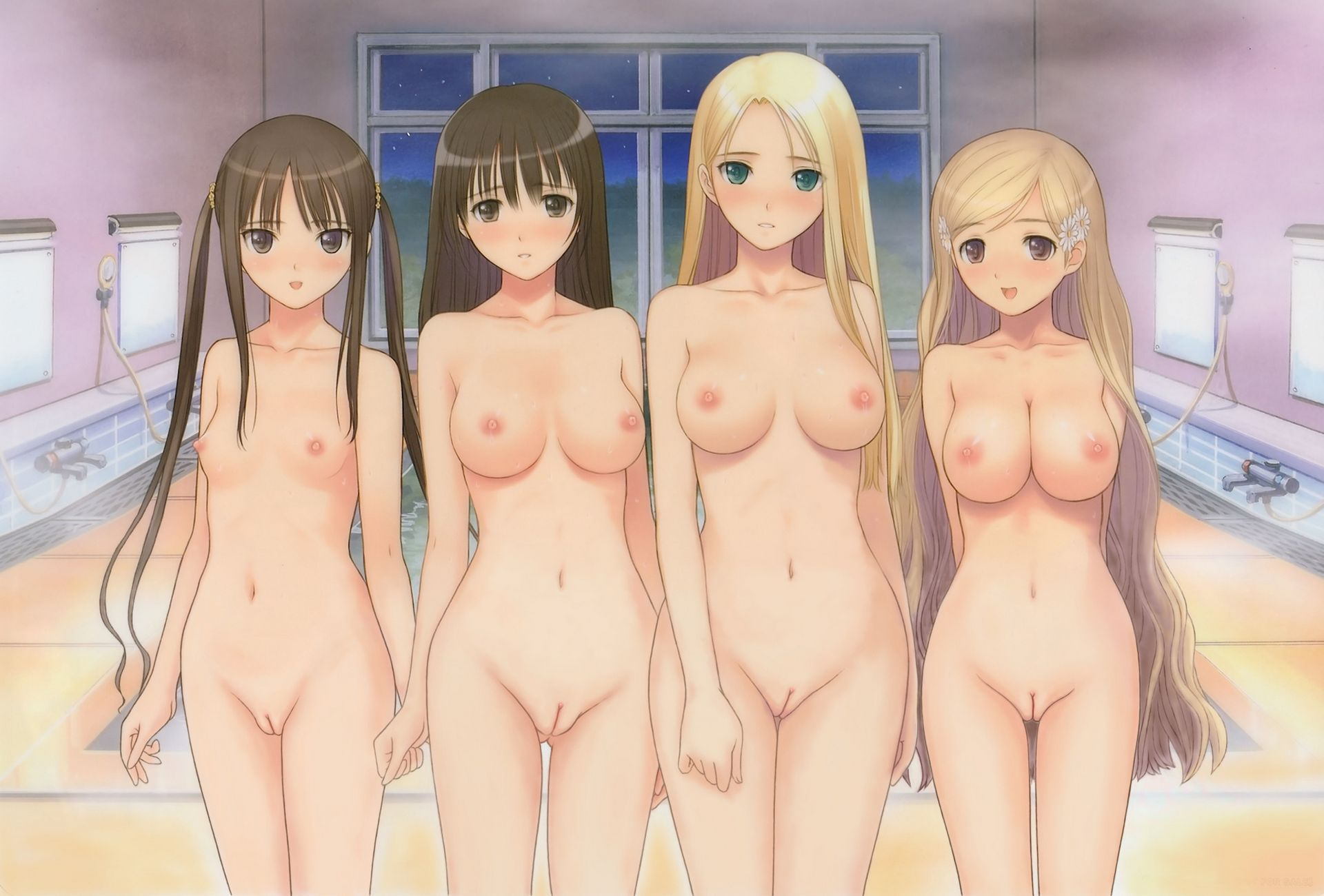 Necessary words... Anime bare breast