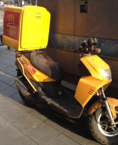 韓国マクドナルド配達バイク